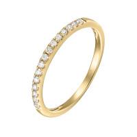 750er Gelbgold Memory Ring 16 x Diamanten zus. ca. 0,27 ct. Krappenfassung
