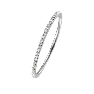 750er Weißgold Memory Ring 19 x Diamanten zus. ca....