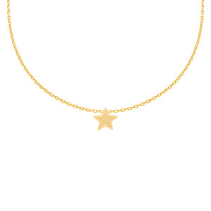 585er Gelbgold Kette mit Stern Anhänger