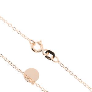 585er Rotgold Halskette mit 7 Plättchen 45 cm