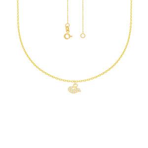 585er Gelbgold Collierkette mit Schwan Anhänger...