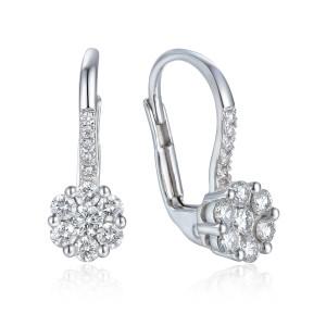 585er Gold Ohrringe mit Diamanten zus. 0,50ct.