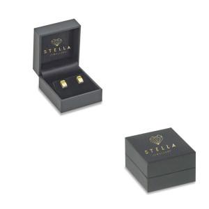 585er Gelbgold Ohrstecker Smaragd 0,23ct./ 24 x Diamanten...