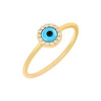585er Gelbgold Set mit Collier Armband Ring und Ohrstecker Nazar